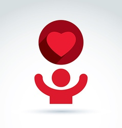 charity and donation symbol of a red loving vector image vector image