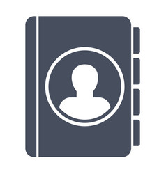 contact book icon vector image