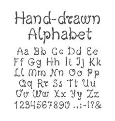 Hand-drawn alphabet vector