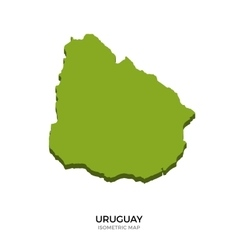 Isometric map of Uruguay detailed vector image vector image