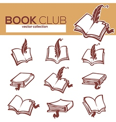 books collection vector image vector image