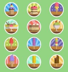 Ice Cream Menu Flat Icon vector image