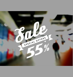 sale special offer on blurry vector image vector image