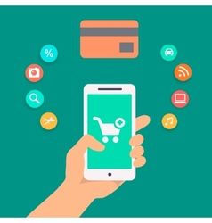 concepts of online payment methods vector image vector image