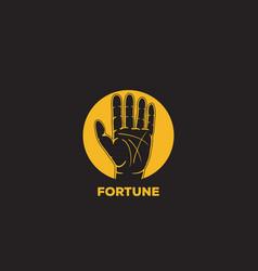 fortune telling logo icon design vector image