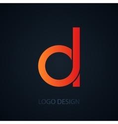 logo letter d vector image vector image