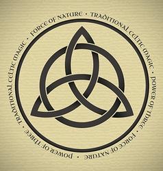Triquetra symbol vector image