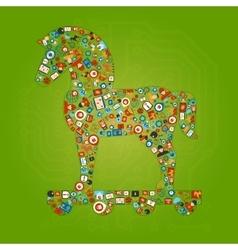 Trojan horse shape concept vector