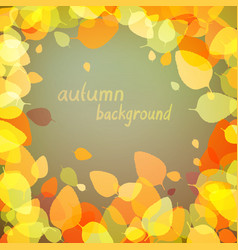 yellow leaves on dark background vector image vector image