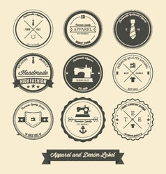 Apparel and denim label vector image