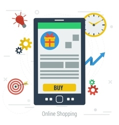 concept mobile online shopping vector image