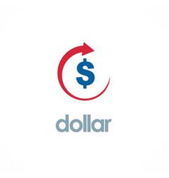 Dollar up business logo vector