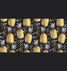 pineapple luxury gold vector image