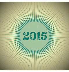 2015 retro sun green vector image