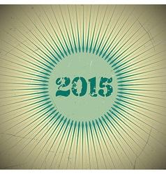 2015 retro sun green vector