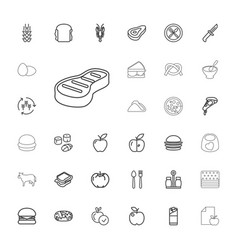 33 eat icons vector