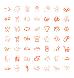 49 little icons vector image