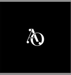 A o letter logo creative design on black color vector