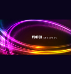 abstract background with bright glowing lines vector image
