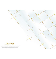 Abstract white background with lines gold modern vector