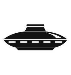 alien ship icon simple style vector image