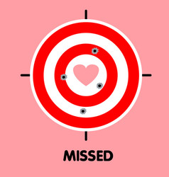 All shoot missed heart target vector