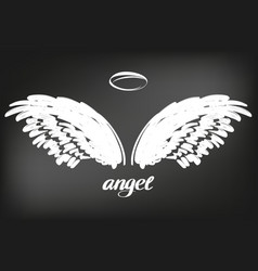 Angel wings icon sketch collection religious vector