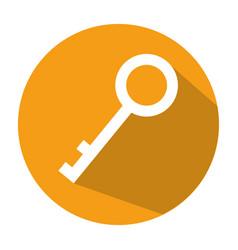 Antique door key icon vector