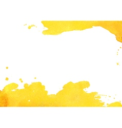Background with yellow watercolor spot vector