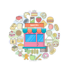 Bakery shop banner vector
