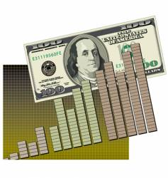 bar graph cash flow vector image