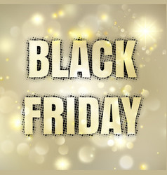 black friday poster eps 10 vector image
