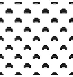 black ink printer pattern seamless vector image