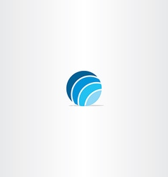 blue circle globe logo vector image