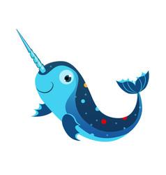 blue marlin fish or swordfish sea tropical vector image