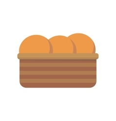 Bread in Basket vector image
