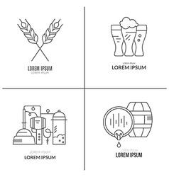 Brewery logo collection vector