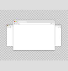 browser windowweb browser in flat style window vector image