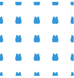 Bulletproof vest icon pattern seamless white vector