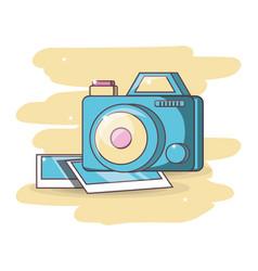 Camera device dowloading picture design vector
