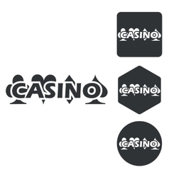 Casino icon set monochrome vector image