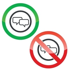Chat permission signs vector image