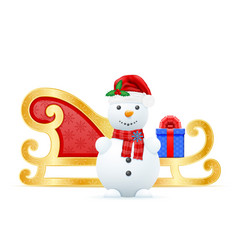 christmas sledges santa claus vector image