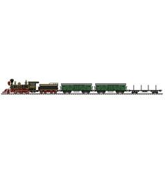 Classic american freight steam train vector
