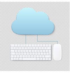 cloud computing concept transparent background vector image