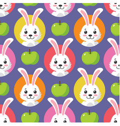 Cute little bunny seamless pattern vector