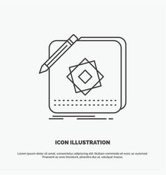 design app logo application design icon line gray vector image