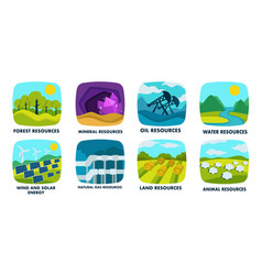 ecology natural resources isolated icons finite vector image