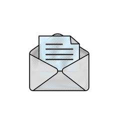 Envelope paper sheet vector
