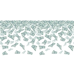 Falling dollar sign money rain Seamless pattern vector image
